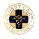 Patient Care Assistant Pin Medical Emblem Blue Cross Caduceus Graduation New
