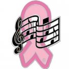 Breast Cancer Music Note Lapel Pin Musician Band Pink Ribbon Awareness New