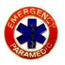 Emergency Paramedic Collar Device Pin 64G2 Gold Red Blue Star of Life Lapel New