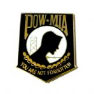 POW MIA Lapel Pin Cap Tac You Are Never Forgotten Military Missing Troops New