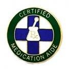 Certified Medication Aide Lapel Pin Mortar Pestle RX Medical Emblem 5022 New