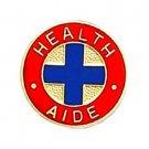 Health Aide Lapel Collar Pin Medical Insignia Blue Cross Emblem Professional 947
