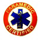 Paramedic Certified Tie Tac Tack Gold Red Blue Star of Life Uniform 62GT New