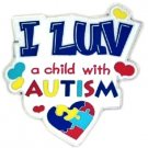 I Luv A Child With Autism Pin Color Puzzle Piece Heart Autistic Awareness Child