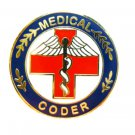 Medical Coder Lapel Pin Red Cross Caduceus Professional Career Pins 116 New