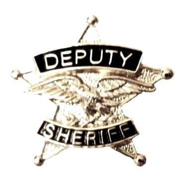 Deputy Sheriff Tie Tac 5 Point Star Eagle Officer Professional Nickel P3803N