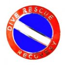 Dive Rescue Recovery Lapel Pin Collar Nickel Diving Team Scuba Diver Flag 68S1 M