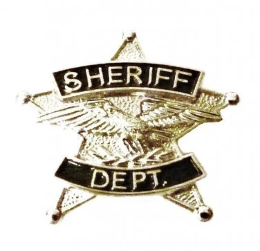 Sheriff Department Tie Tac 5 Point Star Nickel Plated Eagle Officer 3801 N New