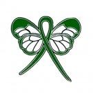 Spinal Cord Injury Awareness Month May Green Ribbon Butterfly Pin New