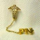 PN Chain Private Nurse Emblem 2 in 1 Lapel Pin 821 New