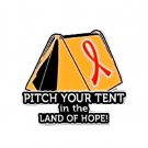 MS Multiple Sclerosis Pin Awareness Orange Ribbon Tent Hope Camper