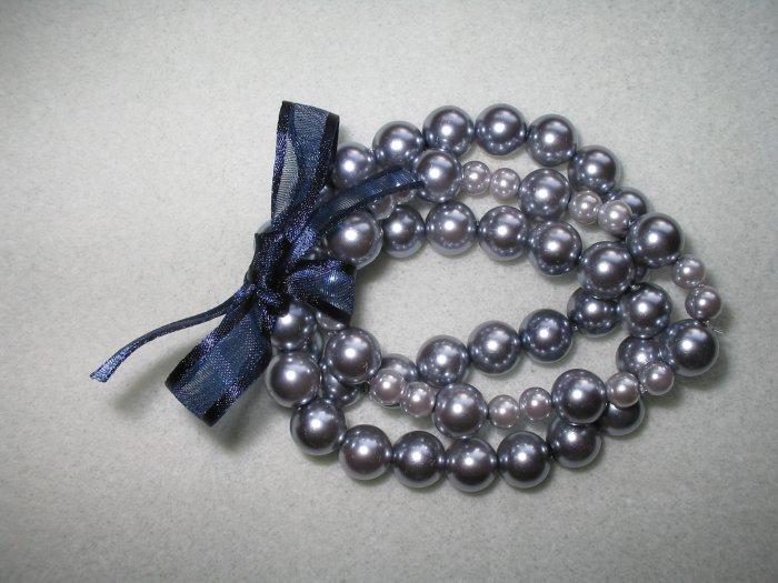 Beaded Pearl Bracelet Trio
