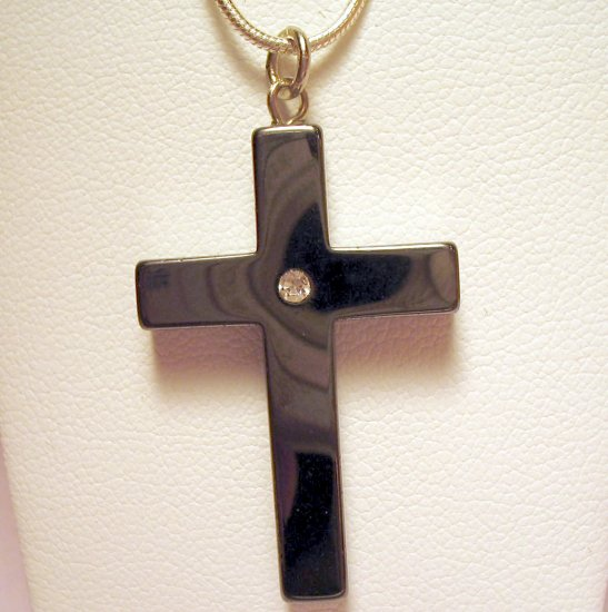 Hematyte Cross Necklace