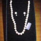 Genuine Freshwater Pearls & Earrings