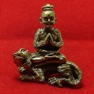 TINY GUMAN KUMAN THONG CHANT FOR LUCKY WEALTH RIDE MAGIC TIGER THAI MINI AMULET