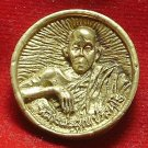 LP KOON BRASS COIN THAILAND FAMOUS MONK RICH MONEY MULTIPLY THAI BUDDHA AMULET