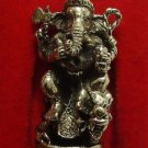 LORD GANESH GANESHA ON DRAGON HINDU GOD MINI AMULET SUCCESS WIN REMOVE OBSTACLE