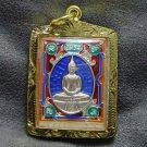 LP SOTORN BLUE THAILAND FAMOUS TEMPLE THAI BUDDHA TOP AMULET GOLD PLATED PENDANT