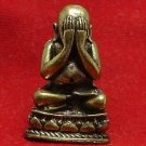 SANGKAJAI HAPPY BUDDHA PIDTA REAL BUDDHIST THAI AMULET RICH MONEY NICE RARE GIFT