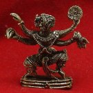 MINI LORD HANUMAN MONKEY KING RAMAYANA MUAY THAI FIGHTER BOXER SAFE LIFE AMULET