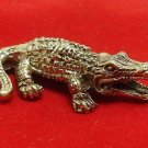 MAGIC MIRACLE YANT CROCODILE REAL THAI MINI AMULET WEALTH RICH LUCKY GAMBLE WIN