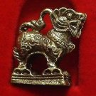 TINY CHINESE SINGHA MAGIC LION THAI MINI BRASS AMULET LIFE PROTECTION NICE GIFT