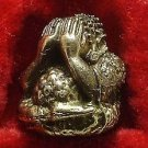 TINY CLOSE EYES PIDTA HAPPY BUDDHA THAI MINI BALL AMULET RICH MONEY LUCKY CHARM