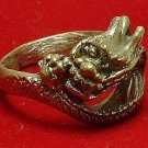 CHINESE DRAGON BRASS MEN RING POWER RICH LUCKY WIN MONEY REAL AMULET NICE GIFT