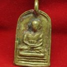 1935 LP PLAI THAI TOP BUDDHA BRASS COIN PENDANT LIFE PROTECTION LUCKY MONEY RICH