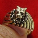 TIGER BRASS MEN RING THAI LIFE PROTECTION AMULET THAILAND LUCKY CHARM NICE GIFT