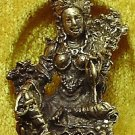 MAA LAXMI LAKSHMI HINDU DEITY GODDESS RICH WEALTH & LUCKY INDIA THAI MINI AMULET