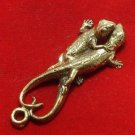DUO GECKO PENDANT THAI AMULET LOVE SEX APPEAL ATTRACTION TALISMAN THAILAND GIFT