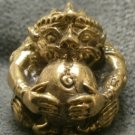 LORD HANUMAN MONKEY MUAY THAI FIGHTER LIFE PROTECTION MINI YANTRA BALL AMULET NR