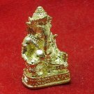 LORD GANESH OM GANESHA HINDU MINI BRASS STATUE SUCCESS & REMOVE OBSTACLES AMULET