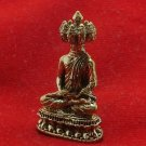 9 FACES LORD BUDDHA THAI MINI BRASS AMULET WIN ALL OBSTACLES LUCKY RICH SUCCESS