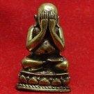SANGKAJAI HAPPY BUDDHA PIDTA REAL BUDDHIST THAI MINI AMULET RICH MONEY RARE GIFT