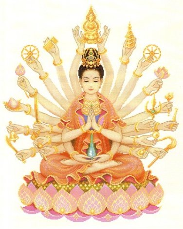 1000 HANDS BUDDHA GUAN YIN QUAN IM BLESS FOR SUCCESS HAPPY AMULET LUCKY PENDANT