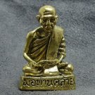 MINI BRASS AMULET LP KLAI THAI FAMOUS MONK RICH LUCKY SUCCESS THAILAND NICE GIFT