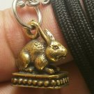 MAGIC RABBIT BUNNY LUCKY LOVE WEALTH RICH THAI REAL AMULET PENDANT NECKLACE GIFT
