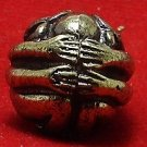 RARE PIDTAWAN CLOSE EYES EARS ANUS THAI BUDDHA MINI YANTRA BRASS BALL HOT AMULET