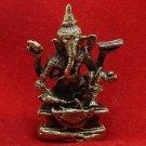 LORD GANESH GANESHA GOD DEITY HINDU THAI MINI AMULET SUCCESS POWER WIN OBSTACLES