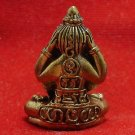 CLOSE EYES EARS ANUS BUDDHA REAL THAI MINI BRASS AMULET THAILAND LUCKY RARE GIFT