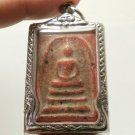 RED PHRA SOMDEJ LP DANG THAI BUDDHA MAGIC YANTRA AMULET REMOVE OBSTACLE PENDANT
