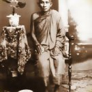 THAI MINI AMULET LP SUK SOOK STAND ON MAGIC CROCODILE LIFE PROTECTION MINIATURE