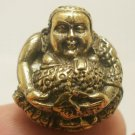 HAPPY BUDDHA SANGKAJAI HOTEI BUDAI THAI MINI BRASS BALL AMULET LUCKY MONEY RICH