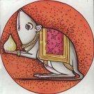MUSHIKA TINY MAGIC MOUSE MOUNT RAT OF LORD GANESHA HINDU AMULET PENDANT NECKLACE