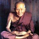 LP TUAD THUAD LEGEND MONK ON COBRA SNAKE THAI MINI AMULET BUDDHA BLESS & SUCCESS