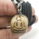 SOMDEJ WAT RAKANG THAI BUDDHA LUCKY RICH SUCCESS AMULET PENDANT NECKLACE SO RARE