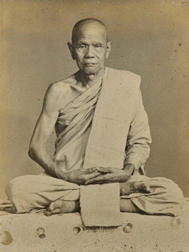 ฺBLESSED IN 1942 BUDDHA & 2 DISCIPLES THAI AMULET PENDANT RICH LUCKY GAMBLE WIN