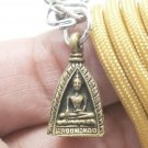 LORD BUDDHA TRIANGLE BLESSING RICH LUCKY LIFE PROTECTION AMULET PENDANT NECKLACE